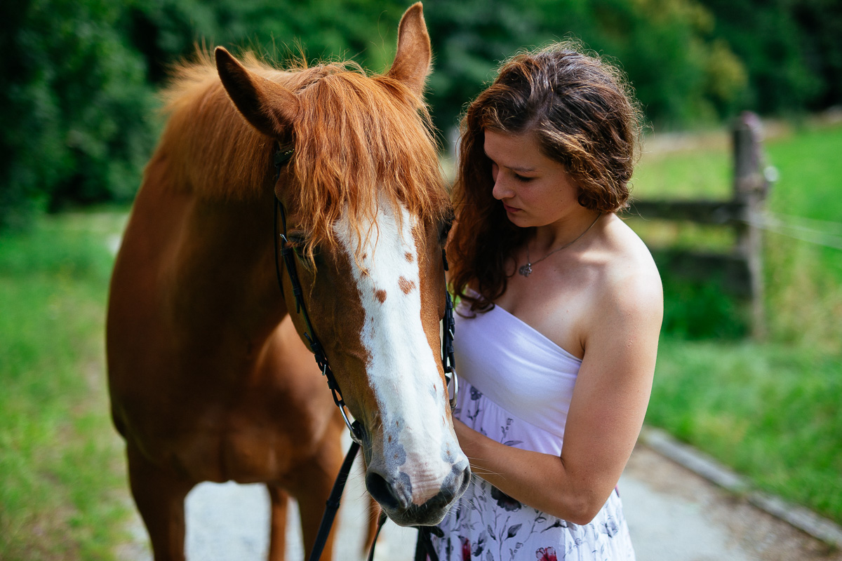 Fotoshooting - Elisabeth und Pferd-1