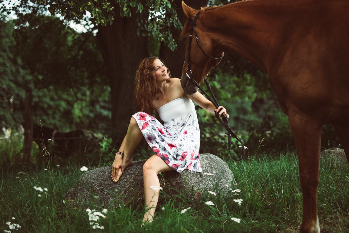 Fotoshooting - Elisabeth und Pferd-21