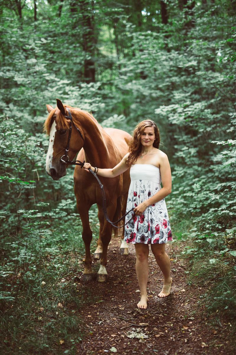 Fotoshooting - Elisabeth und Pferd-27