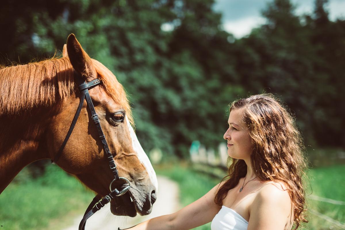 Fotoshooting - Elisabeth und Pferd-7