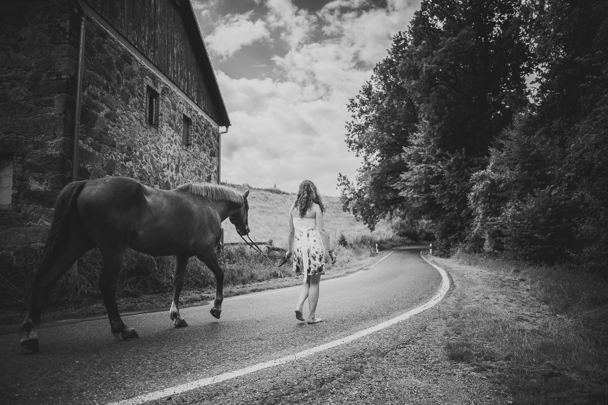 Fotoshooting - Elisabeth und Pferd-9