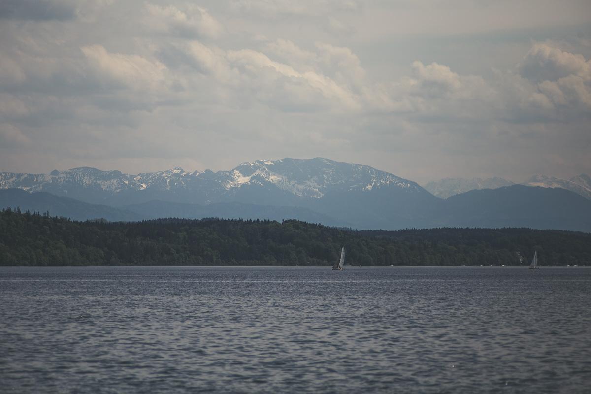 Segelboote auf dem Starnberger See