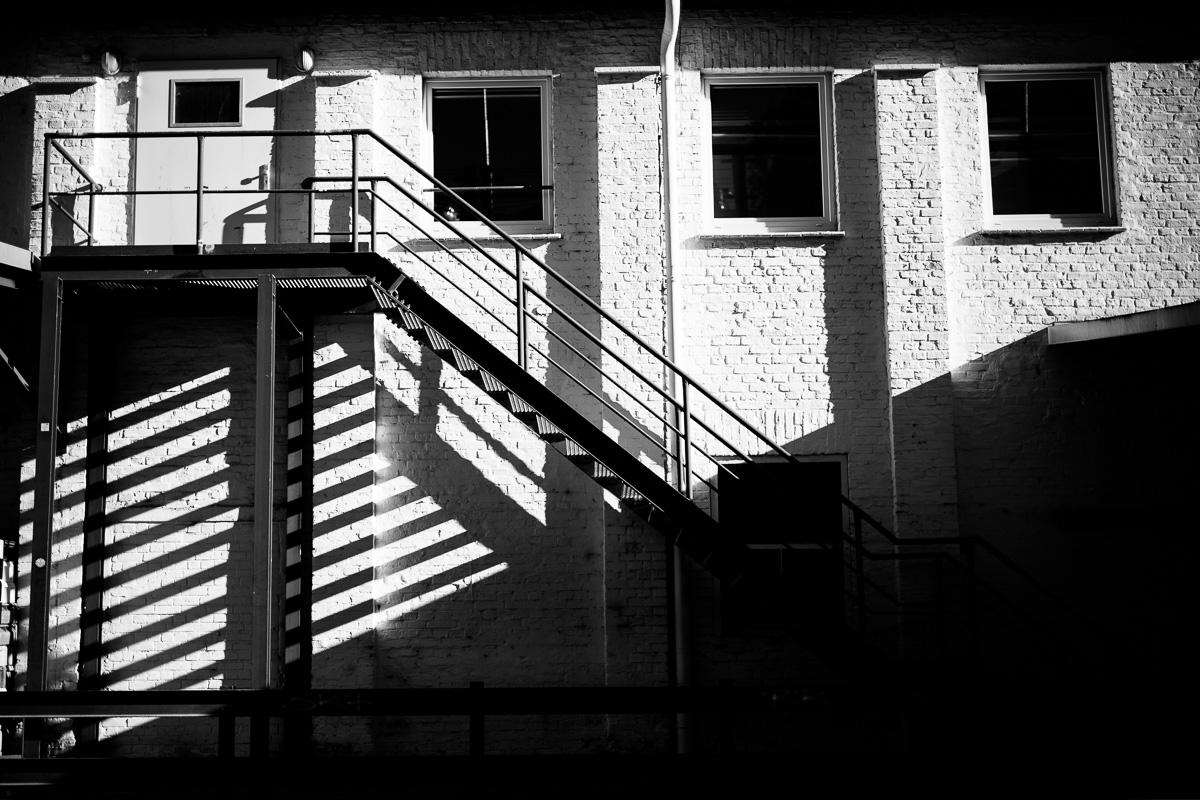 Schattenwurf einer Treppe