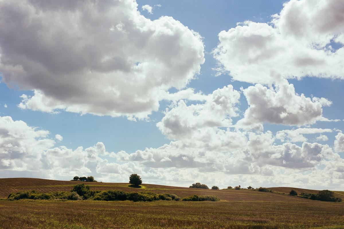 imposante Wolken am Himmel von Rügen