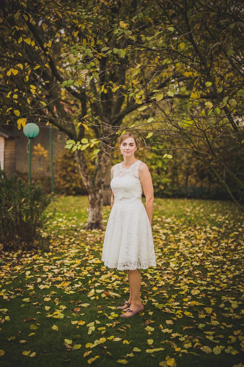Die Braut präsentiert sich