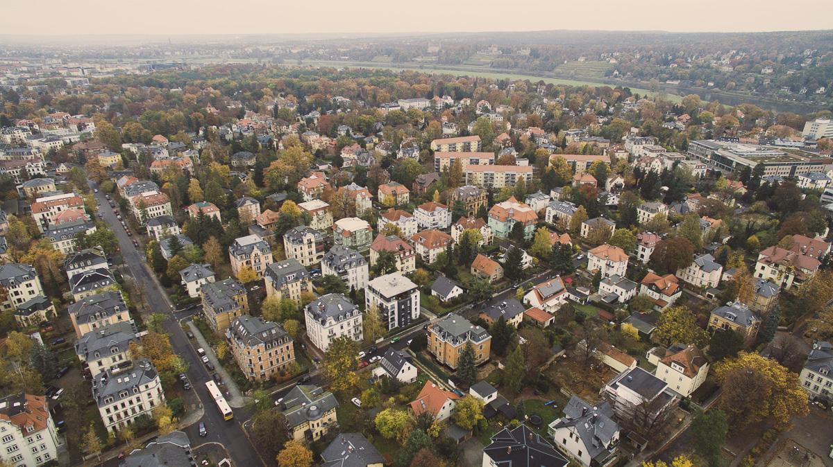 Dresden Blasewitz aus der Luft