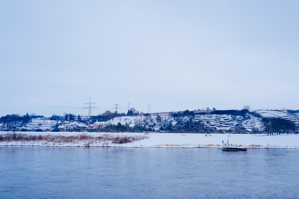Winterlandschaft bei Meißen