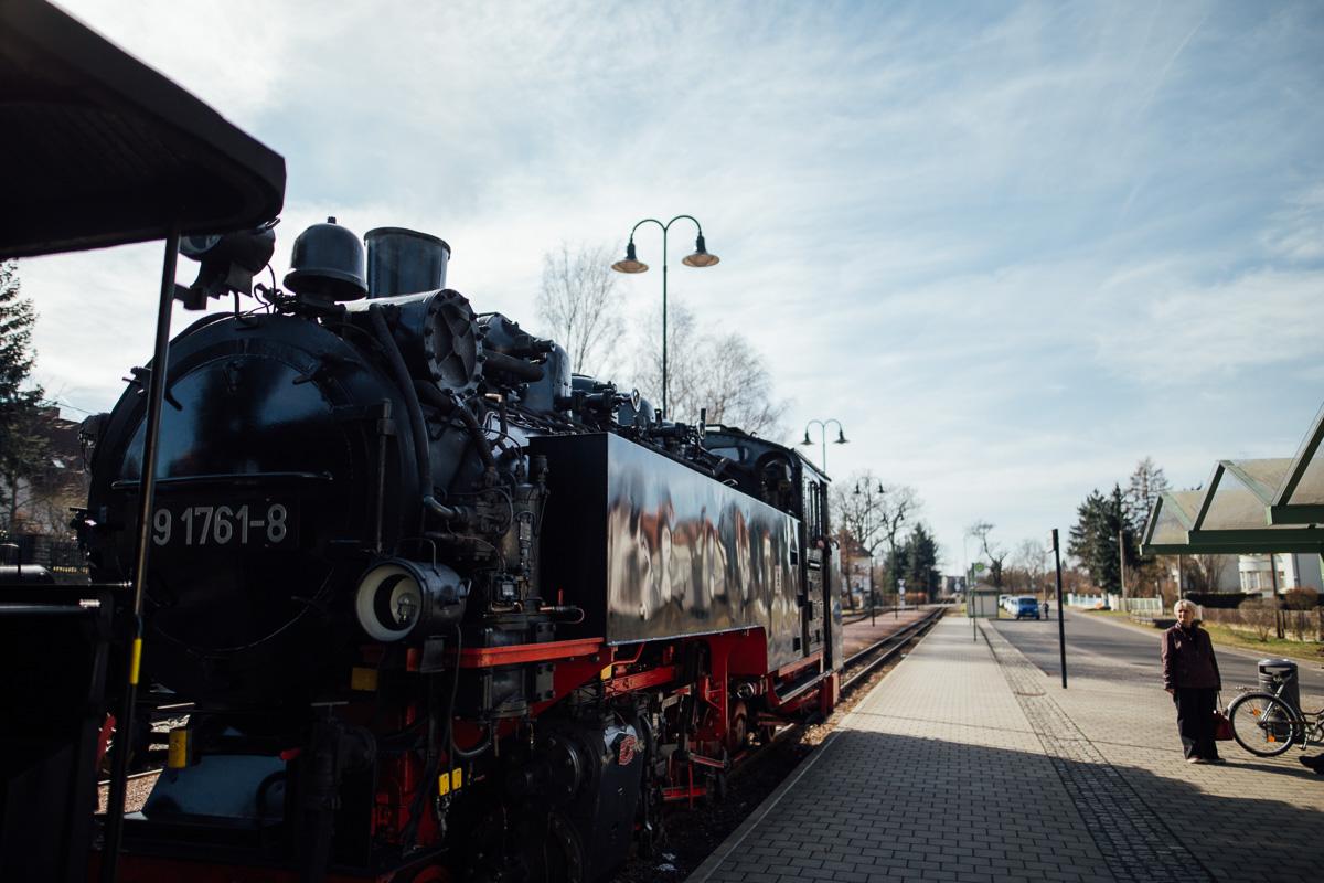 Die Schmalspurbahn bei Moritzburg