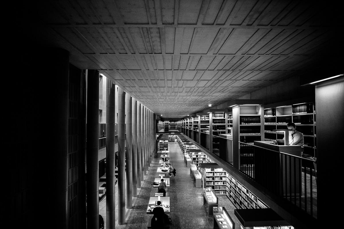 Lesende Studenten in der SLUB an der TU Dresden